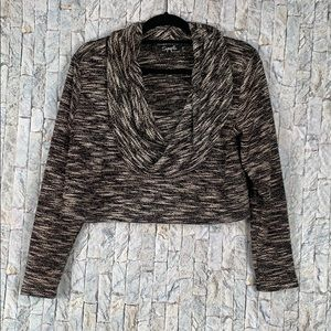 Sympli cropped size 10 long sleeve sweater